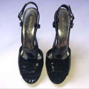BCBGirls Black Croc Heel, Size 10